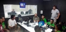 Alumnos de Apyfadim en Radio Universidad