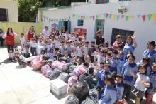 Alumnos de Jardín de La Fray entregaron donaciones